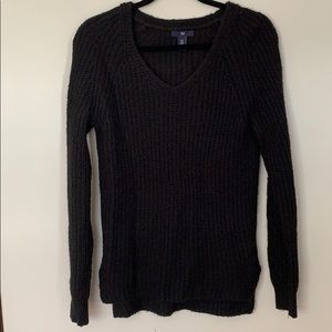 Gap // Black Wool V-Neck Sweater